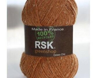 WOOL WOOL PYRENEES BUT RSK34 / BEIGE ORANGE 50 G MADE IN FRANCE
