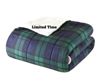 """Plaid Weighted Blanket 50""""x70"""""""