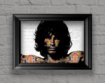Jim Morrison Poster, Jim Morrison Print, Jim Morrison Colorful Layered Tribute Fine Art, Jim Morrison Artwork for The Doors Fans