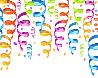 Watercolour Party Clip Art Graphic Design PNG High Resolution A43