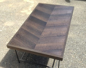 Chevron Oak Coffee Table