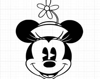 Vintage Minnie Mouse Vinyl Decal