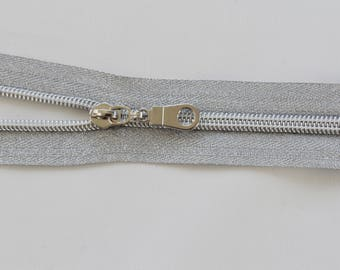 Nylon Metallic Zipper Kit Silver