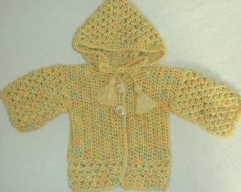 Wool jacket with hood, hooded jacket for 6-12 months