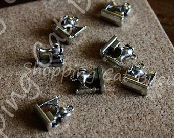 10 pcs SEWING MACHINE - Macchina da cucire - cucito - Tibetan Silver Charms - Pendants