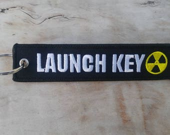 LAUNCH KEY Black Key Tag/Ring