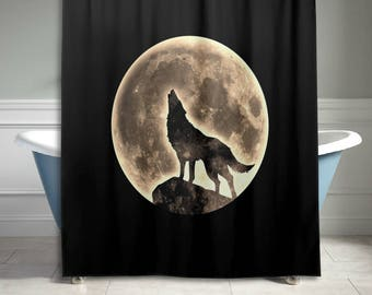 Stone Rock Wall Shower Curtain Vintage Retro Bathroom Decor
