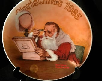 NORMAN ROCKWELL 1985 Christmas Plate