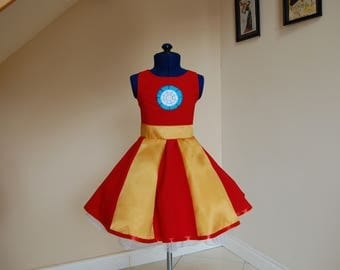 Iron man inspired  dress ,Kids fancy dress costumes , kids iron man