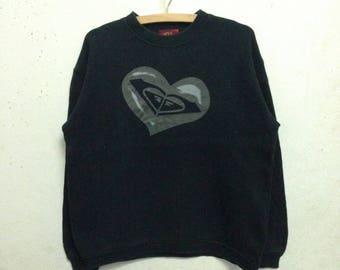 Vintage 90's Roxy Sweatshirts Black Colour