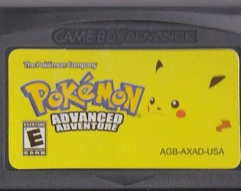 Gameboy Advance Game Boy GBA Pokemon Advanced Adventure Customized