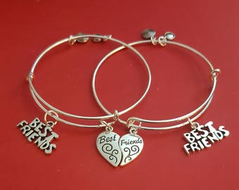 Best Friends Charm Bracelet (sold as a pair)