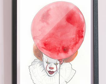 Pennywise Watercolor Print
