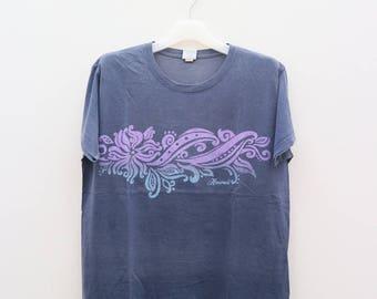 Vintage CRAZY SHIRT Hawaii Purple Tee T Shirts Size L