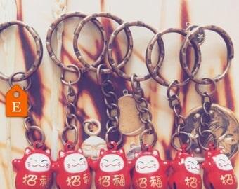 Maneki Neko -fortune Cat-  key-rings