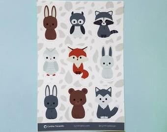 Forest Animal StickerSheet