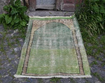 Pale Color Free Shipping Decorative Small Rug 2.5 x 3.6 feet Turkey Rug Old Oushak Rug Floor Rug Aztec Rug Organic Wool Bohemian Rug