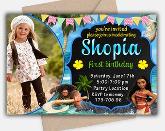 Moana Invitation, Moana Birthday Invitation, Moana Birthday Invitation Theme, Moana Invitation for Girls and Boys, Moana Celebration