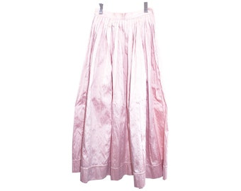 silk ballskirt - vintage Linda Lundstrom pale pink evening skirt
