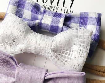 MINI Newborn headband set / baby shower gift set