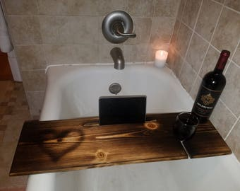 Bathtub wine holder