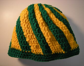 Green and Yellow Winter Hat
