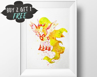 Mlp Wall Art Print Poster, Printable Daybreaker My Little Pony Watercolor Nursery Decor Instant Download