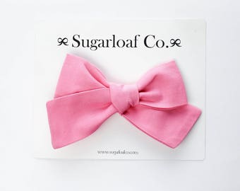 Lolli Bow | Taffy | Hand Tied Bow on a Stretchy Nylon Headband or Alligator Clip