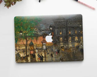 "Konstantin Korovin, ""Place de l'Opera, Paris"". Macbook 15 skin, Macbook 13 skin Pro Air, Macbook 12 skin. Macbook decal. Macbook Art skin."