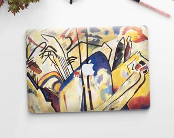 "Vasily Kandinsky, ""Composition IV"". Macbook Pro 15 cover, Macbook Pro 13 cover, Macbook 12 cover. Macbook Pro cover. Macbook Air cover."