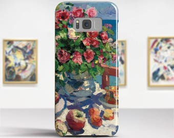"Konstantin Korovin, ""Still Life with Roses"". Samsung Galaxy Note 8 Case Google Pixel XL Case LG G6 case Galaxy A3 2017 Case and more."