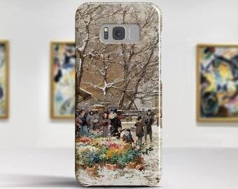 """Eugene Galien-Laloue """"Un Coin de Quai"""". Samsung Galaxy Note 8 Case Google Pixel XL Case LG G6 case Galaxy A3 2017 Case and more."""