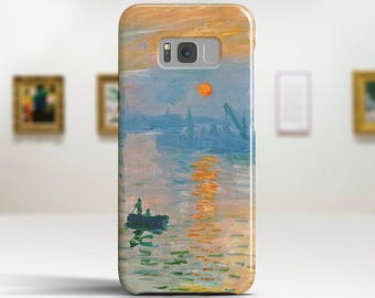 "Claude Monet, ""Impression Sunrise"". Samsung Galaxy S8 Case LG V30 case Google Pixel Case Galaxy J7 2017 Case and more. Art phone cases."