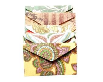 set of 5 mini envelopes 6, 5x4cm various patterns