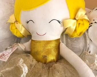 Cute gold metallic dress ballerina