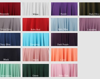 Colour swatches for infinity dress