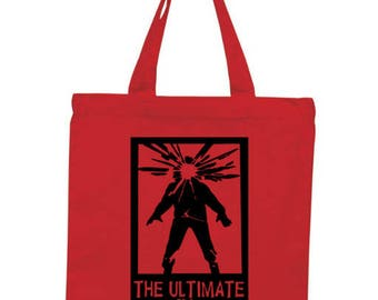 The Thing Alien Terror Horror Canvas Tote Bag Market Pouch Grocery Reusable Halloween Merch Massacre Black Friday Christmas