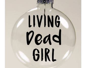 Living Dead Girl Rob Zombie Christmas Ornament Glass Disc Holiday Horror Black Friday Merch Massacre