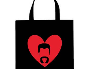 Abraham Valentine's Day Walking Dead Horror Canvas Tote Bag Market Pouch Grocery Reusable Halloween Merch Massacre Black Friday Christmas
