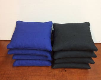 Black and Royal Blue Cornhole bags set