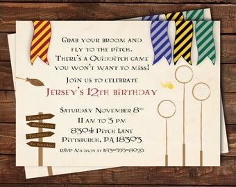 Harry Potter Birthday Train Ticket Invitation Harry Potter