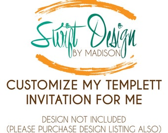 Customize Templett Invitation