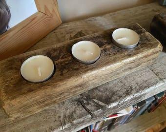Driftwood candle tealight holder