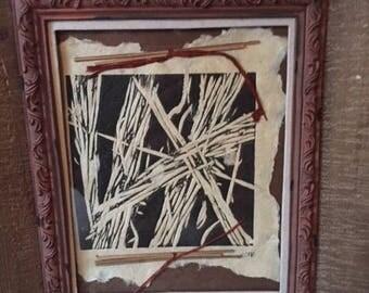 handmade fiber art with natural materials