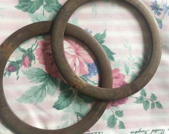 1 Pair of faux wood handles