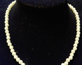 Simulated Medium Pearl Necklace