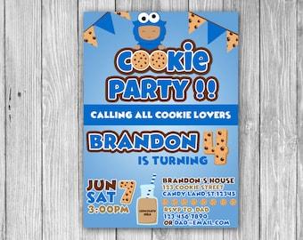 Cookie Monster Invitation (Digital)