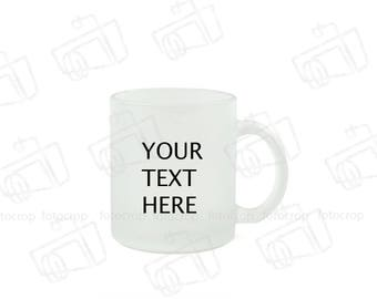 Personalized Coffee Mug Frosted glass 11oz  Custom Photo Text Logo Gift New