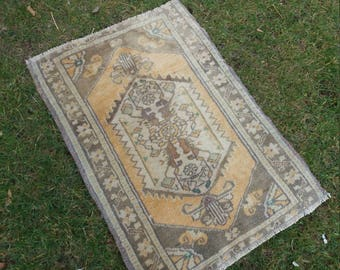 "Home Decor Floor Rugs Home living Oushak rug, Vintage Wool Rug, Turkish Vintage Rug,1'4""×3""Feet,Turkish Rug,Fashion Rug, Turkish small Rug,"