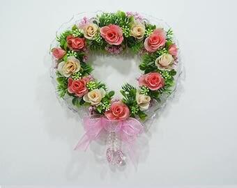 Artificial rose door wreaths / Door decor / Front door decor / Door hanger / Wall decor